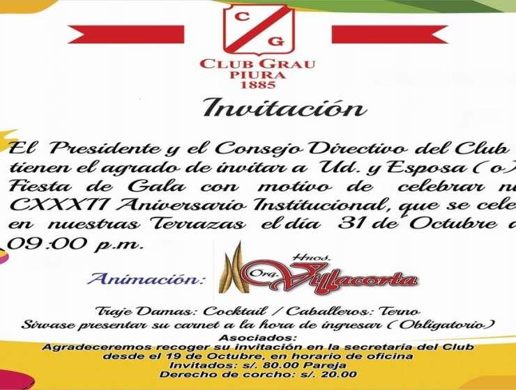 Fiesta de Gala – Aniversario 2017-10-31