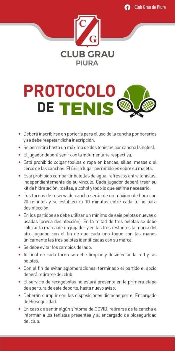 PROTOCOLO DE TENIS